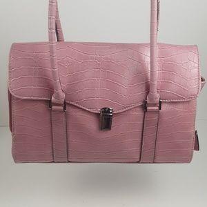 Liz Claiborne cazy horse croc handbag